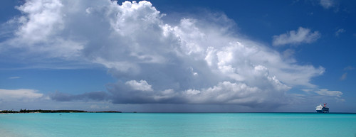 Half Moon Cay, Bahamas. Bamboo point, Sandy Point, Long Bay and Fernandez Bay are other beach areas that should not be missed. These beaches usually quiet and peaceful and are excellent for swimming and snorkeling.